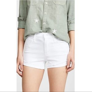 MOTHER The Rascal Slit Flip Shorts-looking glass